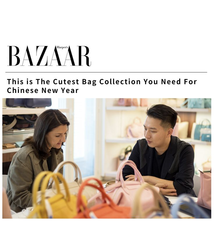 Harper's Bazaar Singapore Mr. Bags Longchamp